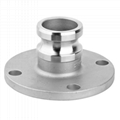 Stainless Steel Male Adapter to 150lb Flanged Cam Lock Coupling 1