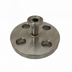 Sanitary Stainless Steel Tri-Clamp x Flange Adapter