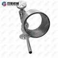 Sanitary Stainless Steel Sample Valve with Pigtail Coil