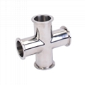 Stainless Steel KF Vacuum Flange 4-Way Cross Fittings 1