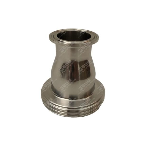 Sanitary Stainless Steel Tri Clamp x Male Liner Concentric Reducer SMS DIN11851 2