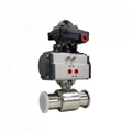 Sanitary Pneumatic Ball Va  e with Limit Switch Box 1