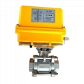 Electrically Motor-Driven On/Off Stainless Steel 3-PC Ball Va  es 2
