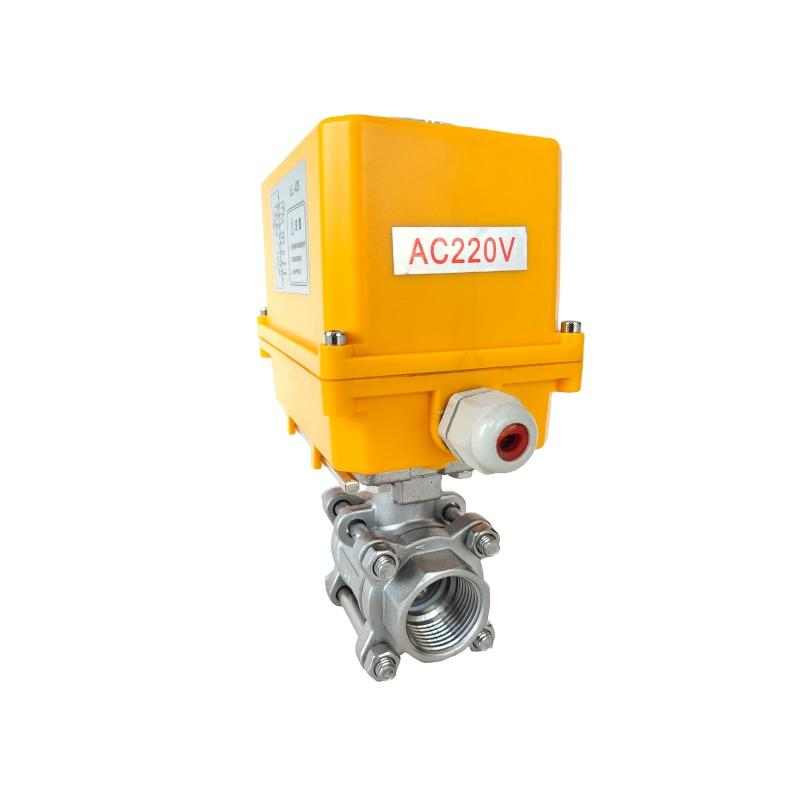 Electrically Motor-Driven On/Off Stainless Steel 3-PC Ball Va  es 3