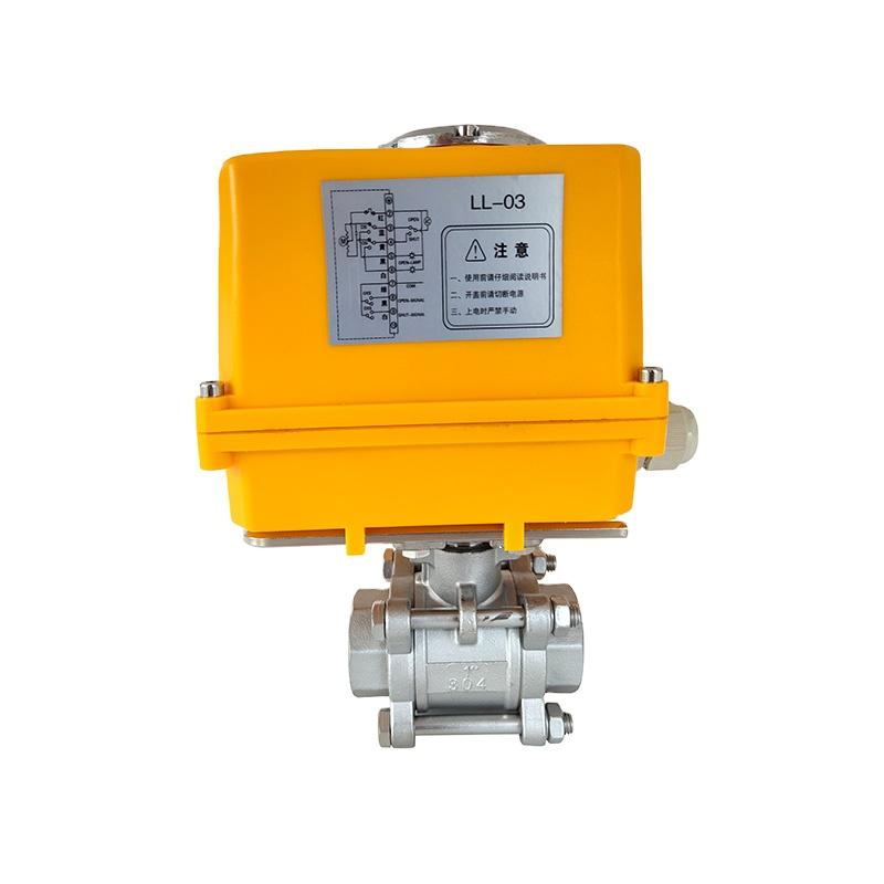Electrically Motor-Driven On/Off Stainless Steel 3-PC Ball Va  es 4