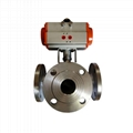 Flanged Double Acting Pneumatic 3 WAY