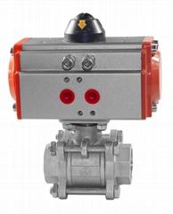 鑄鋼不鏽鋼氣動法蘭球閥Q641F-16P/C防爆高溫球閥