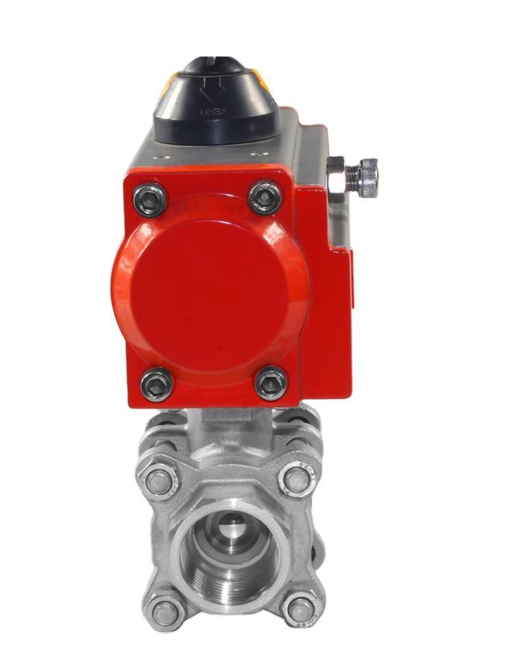 铸钢不锈钢气动法兰球阀Q641F-16P/C防爆高温球阀 3