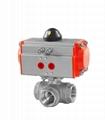 铸钢不锈钢气动法兰球阀Q641