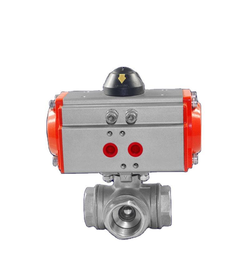 铸钢不锈钢气动法兰球阀Q641F-16P/C防爆高温球阀 2