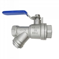 Stainless Steel Threaded On/Off Valves with Easy-Access Strainer