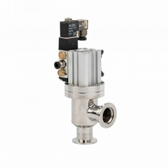 Stainless Steel Vacuum Safety Solenoid Right Angle Bellow Va  e