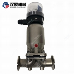 Sanitary Stainless Steel Air Driven Diaphragm Valve with Positioner