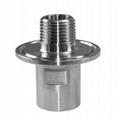 """Stainless Steel 1.5"""" Tri-Clamp 1/2"""" Female NPT x 1/2"""" Male NPT Inside Ferrule"""