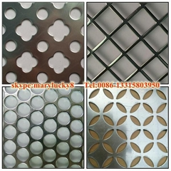 Round Hole Punching metal sheet