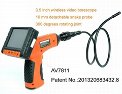 35.inch Wireless snake scope camera with 90 degrees side view probe