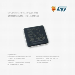 STM32F103VET6 LQFP100 全新進口原裝