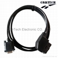 OBDII Male (12V)TO DB9 F CABLE