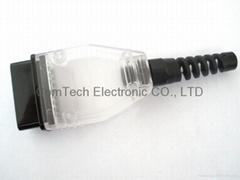 OBD-2  16P  透明白裝配式連接器