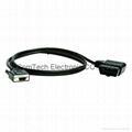 OBD II 16P Right Angle TO RS232 Cable