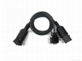 Deutsch J1708 6P M + F  TO DB15 CABLE