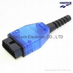 OBD-2  16P 藍色裝配式連接器