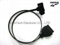 J1962 OBD-II 16P M TO F FLAT CABLE