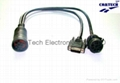 Deutsch 9P M +F  to DB 15  Male Cable