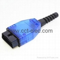 OBD-2 Connector blue transparency