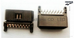 OBDII 16P M 90度 插板連接器