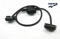 OBD II Male To 2 OBD II Female Y Cable