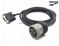 Deutsch  J1939 9P M  TO RS232 9P  F CABLE    (Hot Product - 1*)