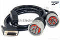 Deutsch Carter  9P M +F  to DB 15  Male Cable