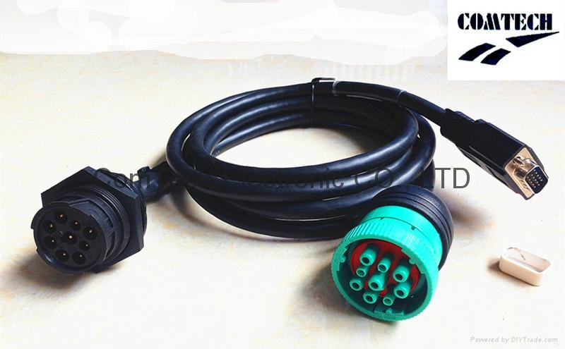 J1939 9p M to 9p F +DB 15p M Y Cable 1