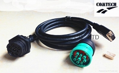 J1939 9p M to 9p F +DB 15p M Y Cable (Hot Product - 1*)