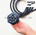 J1939 9p M to 9p F +DB 15p M Y Cable