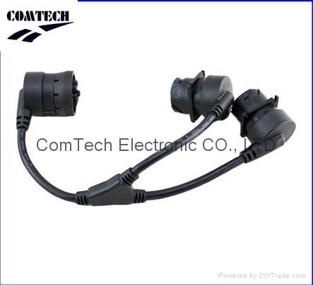 Y splitter J1939 9 pin deutsch connector J1939 diagnostic cable for truck