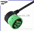 Automotive j1939 j1708 9 pin with m12 5pin sensor military connector