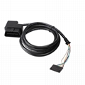 obdii obd2 obd to 2.54 car diagnostic test cable