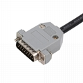 16PIN MALE TO DB15P FEMALE with Wire harness obd2 db15 cable for VGA interface D
