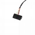 16PIN MALE/FEMALE TO Molex 18PIN HOUSING obd2 obd 16 pin t flat cable for OBD2 f
