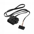 16針公/母至Molex 18針外殼obd2 obd 16針t扁平電纜,用於obd2故障代碼讀取