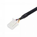 6針90公至12針白色外殼obd 2扁平測試obd2電纜 6