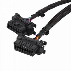 16針公母Y型電纜,帶本田連接器車載診斷2車載診斷線
