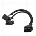 16PIN MALE TO FEMALE Y CABLE with Honda connector obd obd2 OBD2 splitter y male