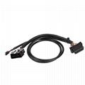 馬自達連接器obd2公母y形電纜的16針公到MOLEX 6P