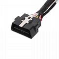 馬自達連接器obd2公母y形電纜的16針公到MOLEX 6P 4