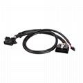 馬自達連接器obd2公母y形電纜的16針公到MOLEX 6P 6