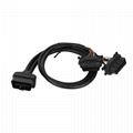 16針公母Y型電纜,帶本田連接器OBD2車載分離器Y型電纜