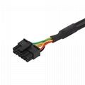 16針陽螺紋至MOLEX 6P,帶福特連接器OBD2車載分離器y型電纜 3
